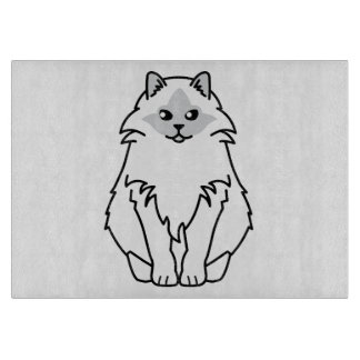 Sacred Birman Cat Cartoon Cutting Board