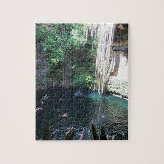 Sacred Blue Cenote, Ik Kil, Mexico#2 Jigsaw Puzzle