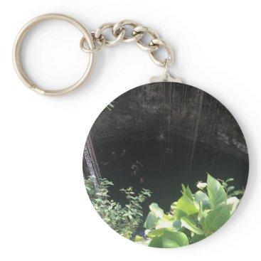 everydaylifesf Sacred Blue Cenote, Ik Kil, Mexico #3 Keychain