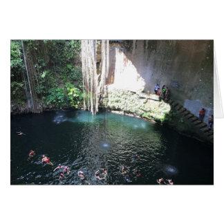 Sacred Blue Cenote, Ik Kil, Mexico #4 Card