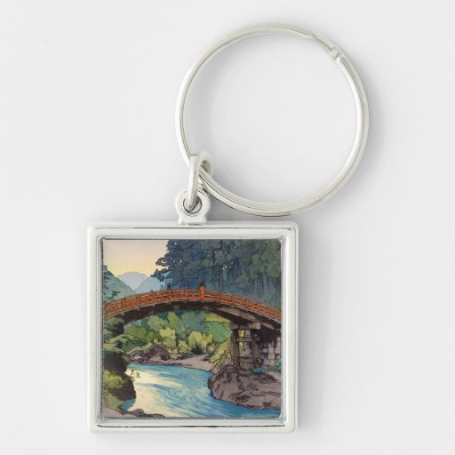 Sacred Bridge in Nikko Hiroshi Yoshida hanga art Keychain