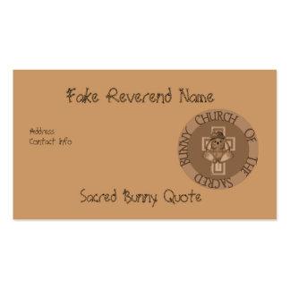Sacred Bunny Church Business Card