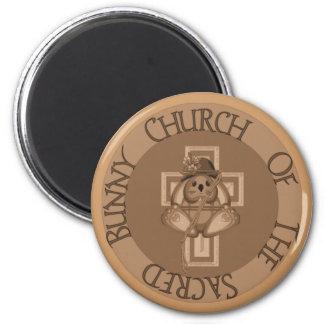 Sacred Bunny Church Magnet