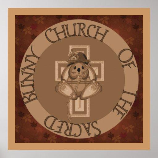 Sacred Bunny Church Print