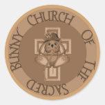 Sacred Bunny Church Round Sticker