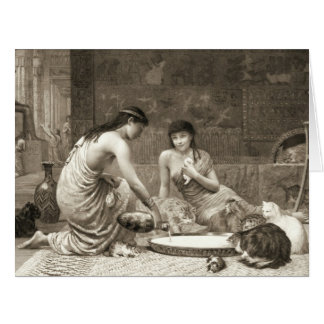 Sacred Cats 1888 Large Greeting Card