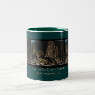 """Sacred Coffee Cup"" Machu Picchu Incan Humor Mug"