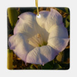 Sacred Datura Flower Desert Wildflower Ceramic Ornament