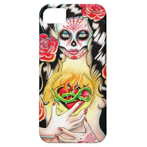 Sacred - Day of the Dead Girl Portrait iPhone 5 Case