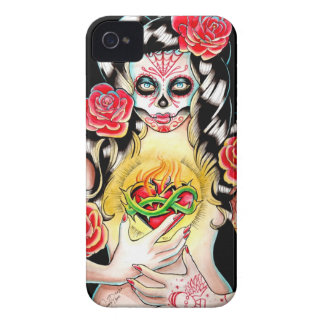 Sacred - Day of the Dead Girl Portrait iPhone 4 Cover