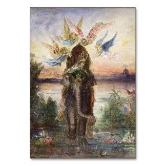 Sacred Elephant (Péri), Art by Gustave Moreau 1882 Card