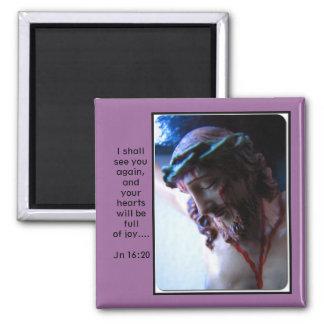 Sacred Face of Jesus Crucified Fridge Magnet