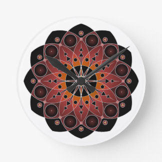 Sacred Flower of Time Round Wallclocks