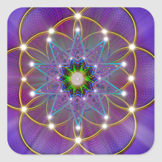 Sacred Geometry 3 Square Sticker