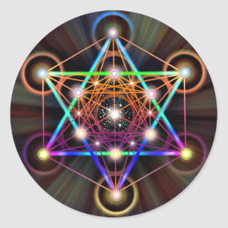 Sacred Geometry 5 Classic Round Sticker