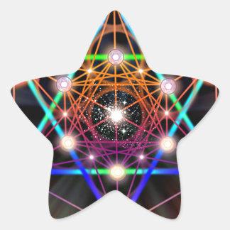 Sacred Geometry 5 Star Sticker