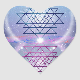 Sacred Geometry 7 Heart Sticker