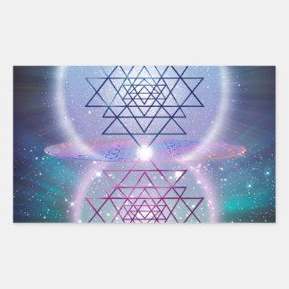 Sacred Geometry 7 Rectangular Sticker