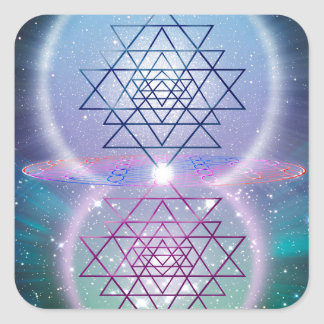 Sacred Geometry 7 Square Sticker