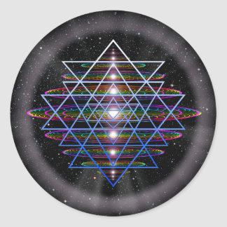 Sacred Geometry 9 Classic Round Sticker