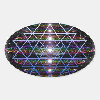 Sacred Geometry 9 Oval Sticker