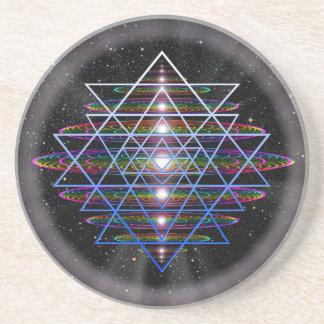 Sacred Geometry 9 Sandstone Coaster