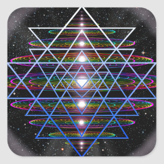 Sacred Geometry 9 Square Sticker