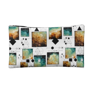 Sacred Geometry and Clouds Cosmetic Bag