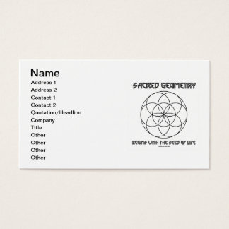 Sacred Geometry Begins With The Seed Of Life Business Card