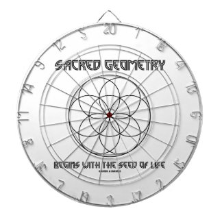 Sacred Geometry Begins With The Seed Of Life Dartboard