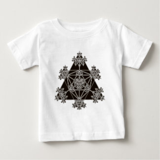 Sacred Geometry: Black Triangles: Baby T-Shirt
