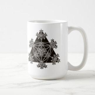 Sacred Geometry: Black Triangles: Coffee Mug