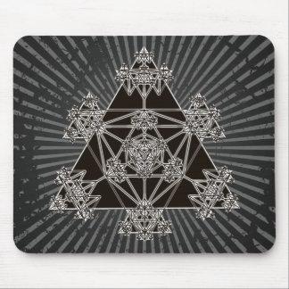 Sacred Geometry: Black Triangles: Mousepad