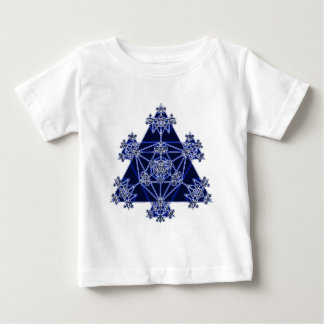 Sacred Geometry: Blue Triangles: Baby T-Shirt