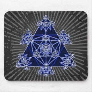 Sacred Geometry: Blue Triangles: Mousepad