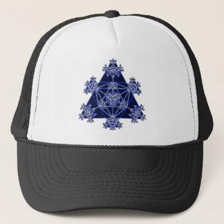 Sacred Geometry: Blue Triangles: Trucker Hat