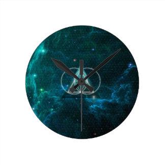 Sacred geometry round wallclock