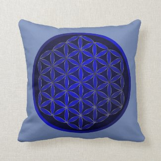 Sacred Geometry Cotton Throw Pillow