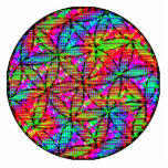 Sacred geometry: flower of life cutout