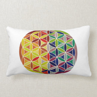 Sacred Geometry Flower of Life Lumbar Pillow