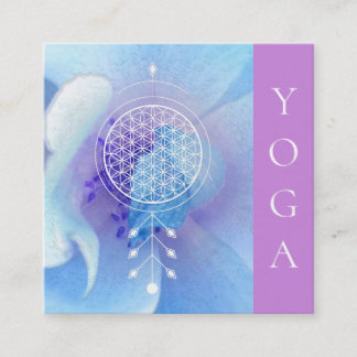 *~*  Sacred Geometry Flower of Life  Reiki Yoga Square Business Card