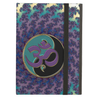 Sacred Geometry Fractal with Yin-Yang and OM iPad Air Covers