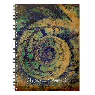 Sacred geometry golden ratio snail shell notebook