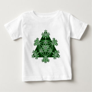 Sacred Geometry: Green Triangles: Baby T-Shirt