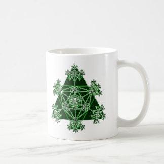 Sacred Geometry: Green Triangles: Coffee Mug