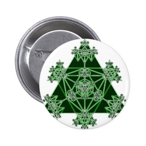 Sacred Geometry: Green Triangles: Pin