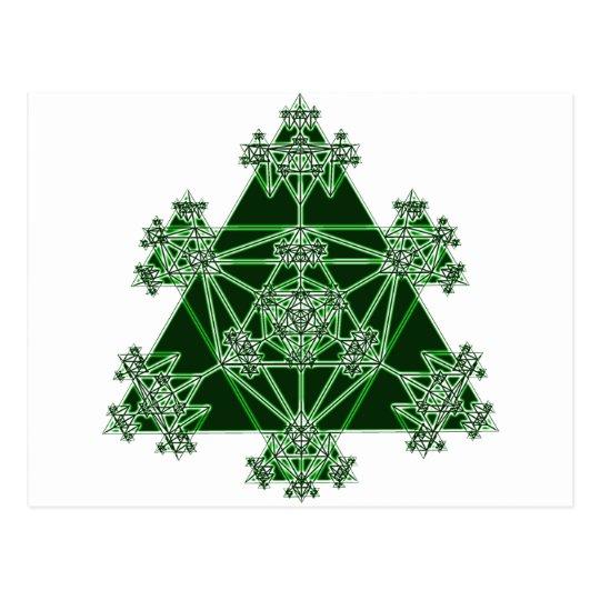 Sacred Geometry: Green Triangles: Postcard