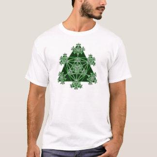 Sacred Geometry: Green Triangles: T-Shirt