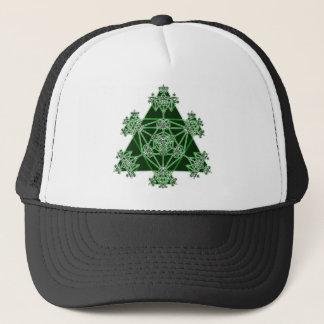 Sacred Geometry: Green Triangles: Trucker Hat