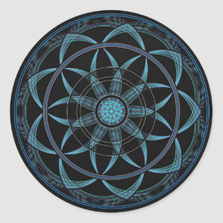 Sacred Geometry Mandala - Bliss Classic Round Sticker
